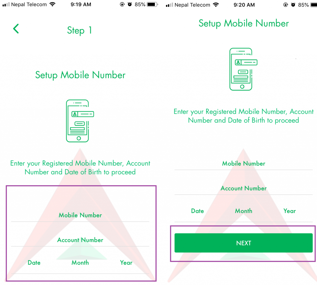 How To Reset Your Password of Nabil SmartBank Mobile Banking App